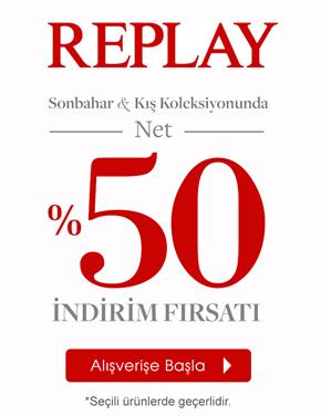 Replay Sonbahar/Kış Seçili Ürünlerinde Net %50 indirim