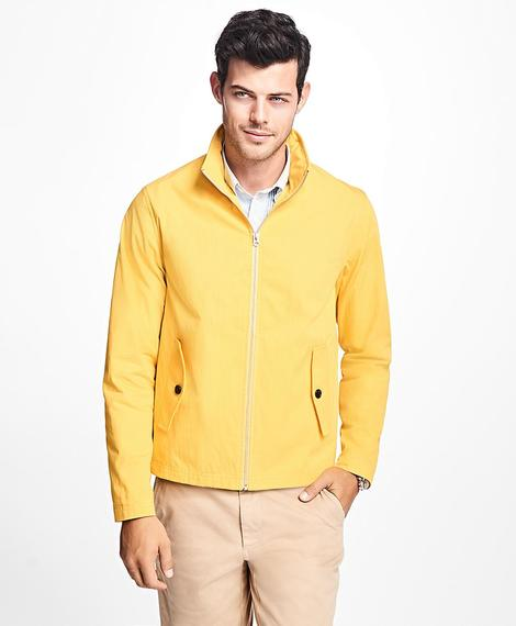 OUT Short Zip Stand Collar Jacket Maize