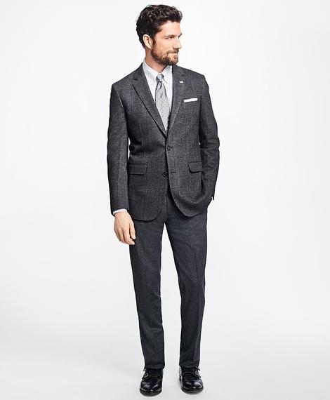 Erkek gri milano kesim klasik flanel pantolon
