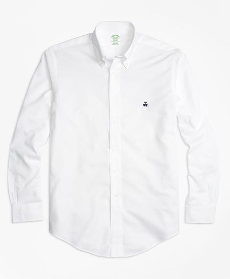 Erkek beyaz non-iron oxford milano kesim klasik gömlek