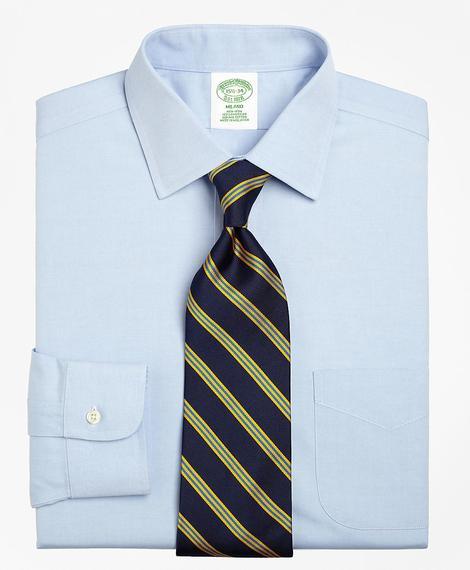 Erkek açık mavi non-iron kravat yaka milano kesim klasik gömlek