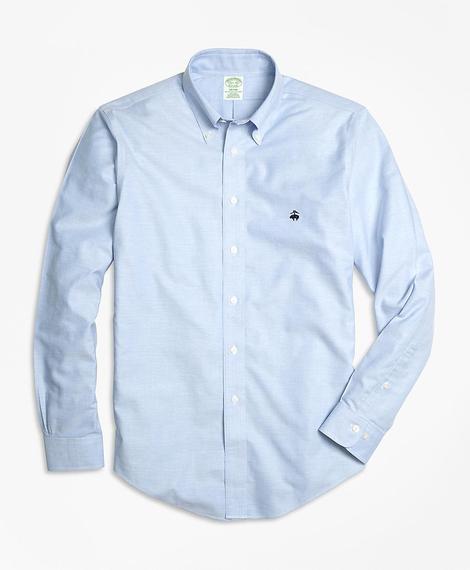 Erkek açık mavi non-iron oxford milano kesim klasik gömlek