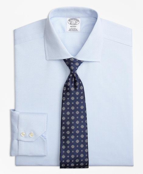Erkek mavi non-iron regent kesim lüks klasik gömlek