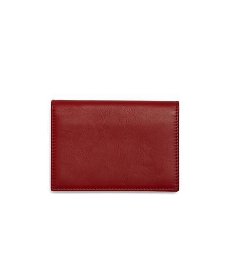 Erkek kırmızı/siyah deri cüzdan