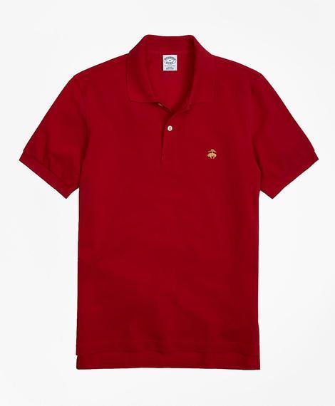 Erkek kırmızı golden fleece polo yaka t-shirt