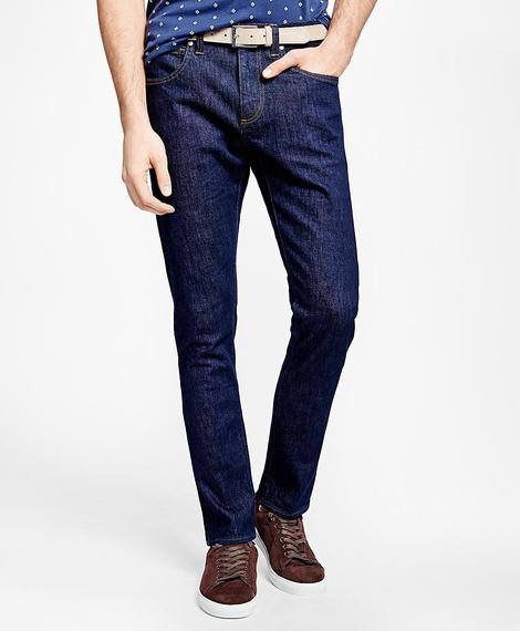 RED FLEECE DENIM PANTOLON
