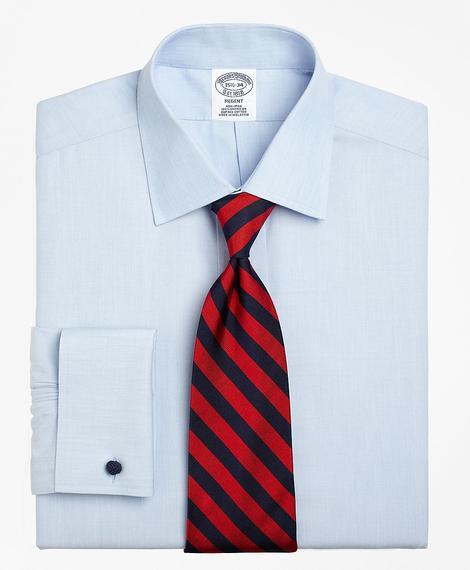 Erkek açık mavi non-iron kravat yaka regent kesim klasik gömlek