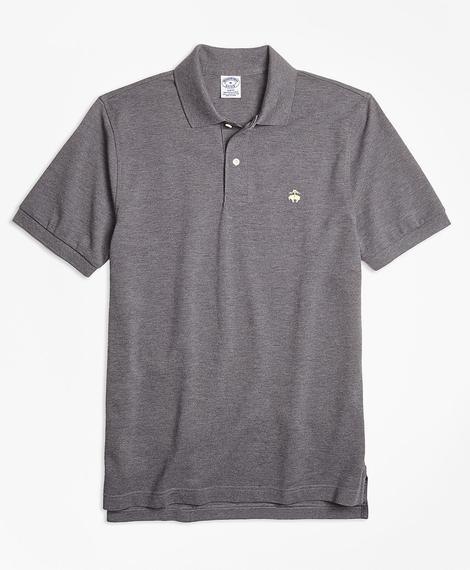 Erkek gri supima polo yaka logolu t-shirt