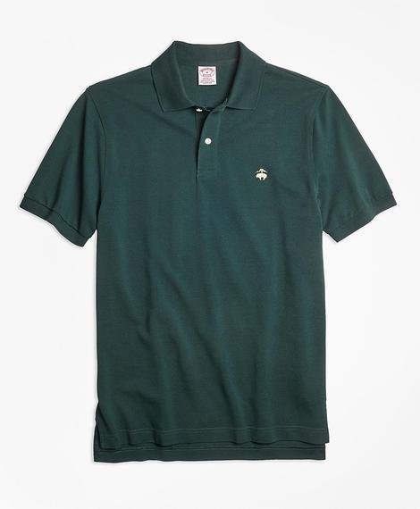 Erkek koyu yeşil supima polo yaka t-shirt