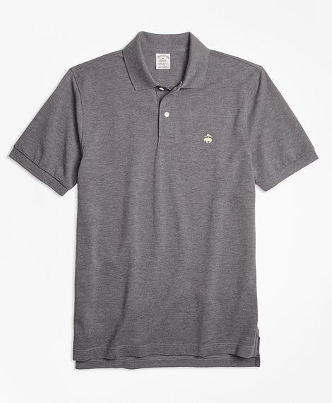 Erkek gri supima polo yaka t-shirt
