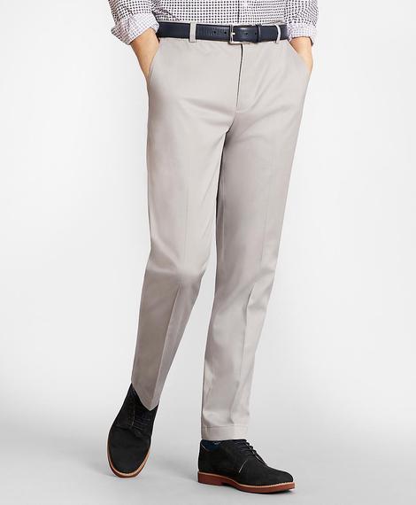 Erkek gri milano kesim chino pantolon