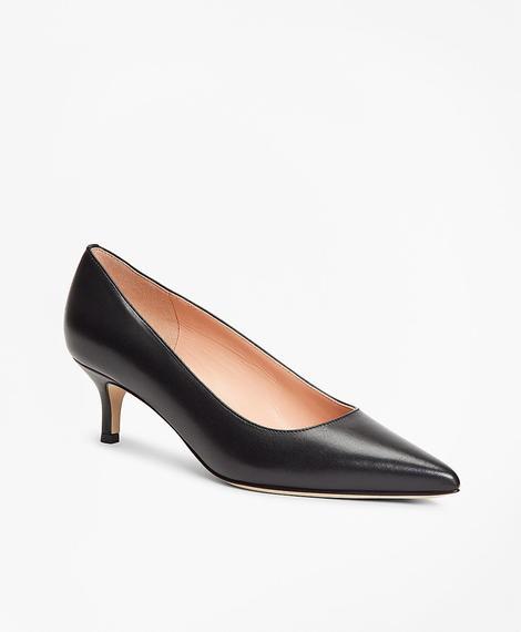 Kadın siyah kitten topuklu ayakkabı