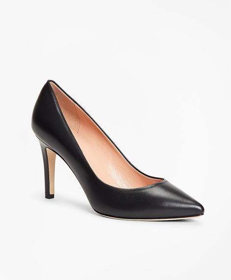 Kadın siyah sivri burun topuklu ayakkabı