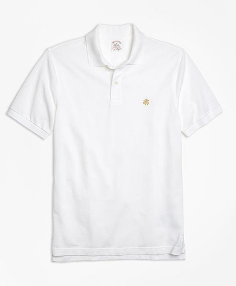 Erkek beyaz supima polo yaka t-shirt