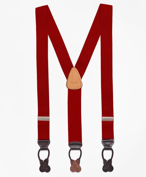 Erkek kırmızı pantolon askısı