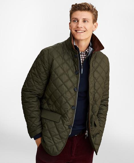 OUT ML Quilted Jacket Green Gables