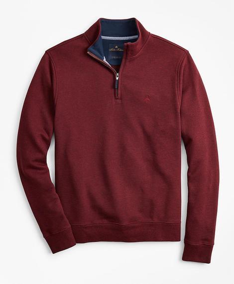 Erkek bordo fermuarlı sweatshirt
