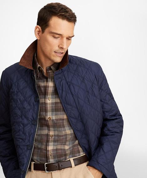 OUT ML Quilted Jacket Mood Indigo