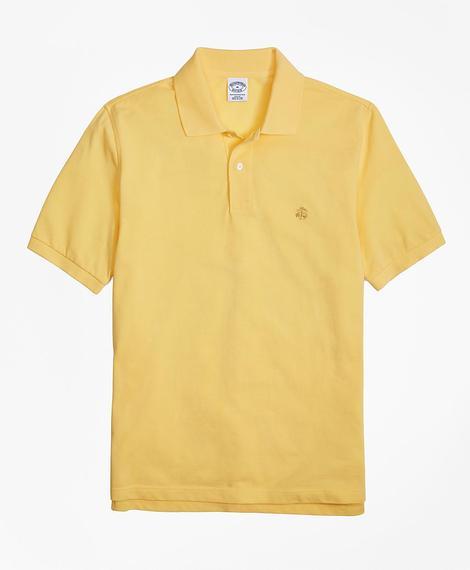 Erkek sarı golden fleece polo yaka t-shirt
