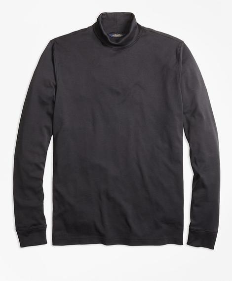 Erkek siyah boğazlı yaka sweatshirt