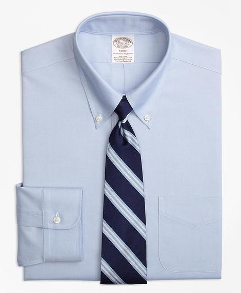 Erkek mavi non-iron gömlek