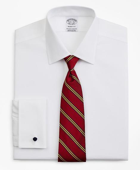 Erkek beyaz regent kesim non-iron gömlek