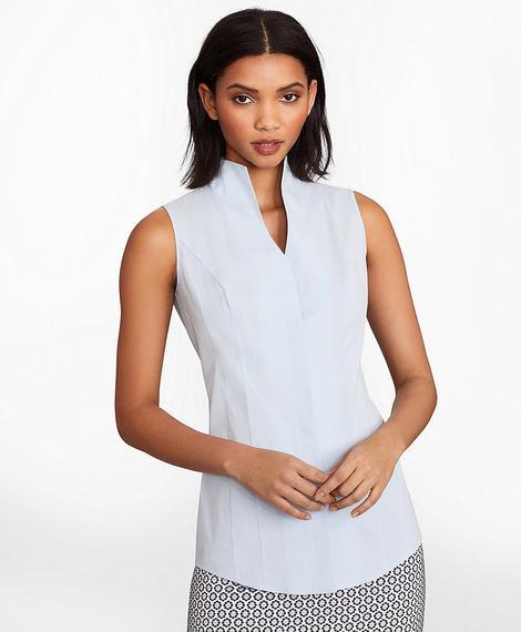 Kadın mavi non-iron gömlek