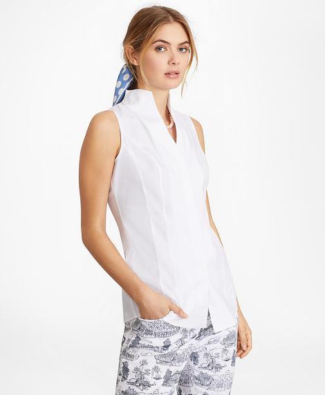 Kadın beyaz non-iron gömlek