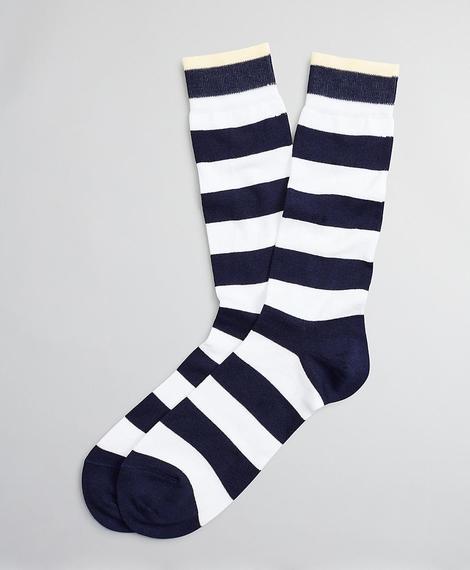 Erkek açık mavi puantiyeli çorap