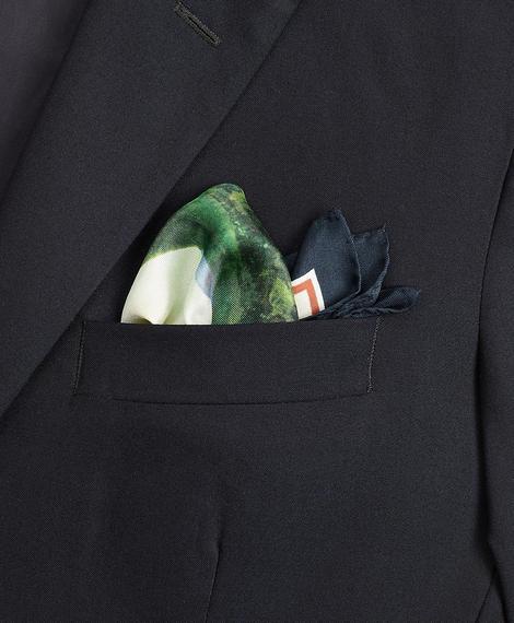 Erkek yeşil desenli cep mendili