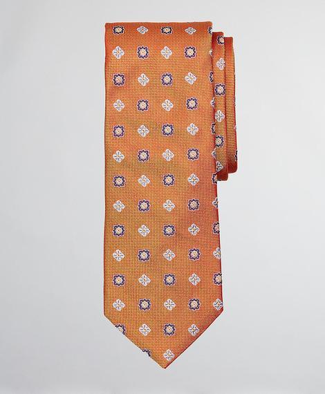 Erkek turuncu desenli kravat