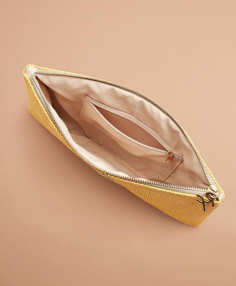 Kadın sarı clutch çanta