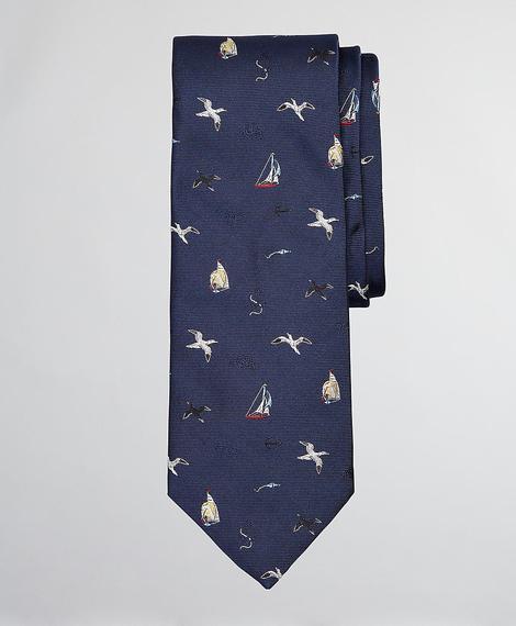 Erkek lacivert desenli kravat