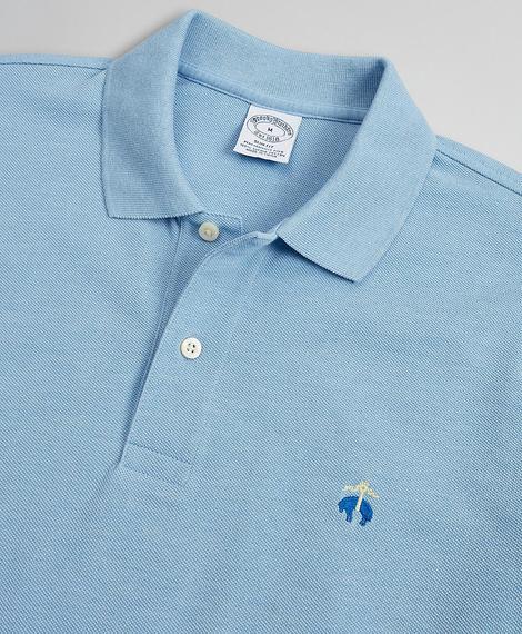 Erkek mavi supima polo yaka performans t-shirt