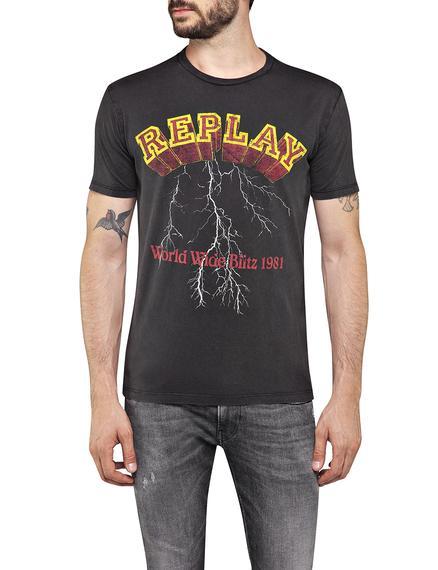 T-Shirt GARMENT DYED COTTON JERSEY