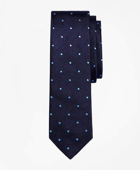 Erkek lacivert/açık mavi noktalı kravat