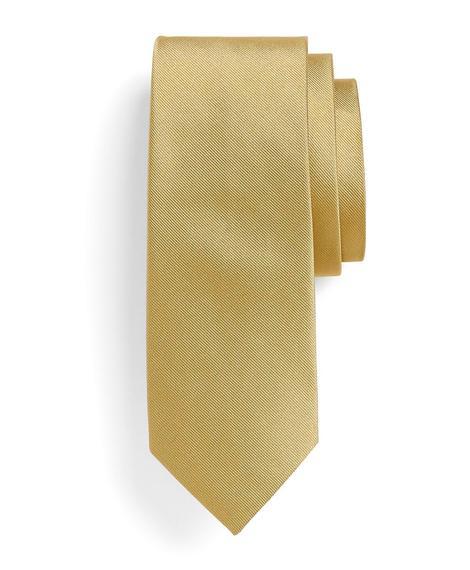 Erkek altın rengi kravat