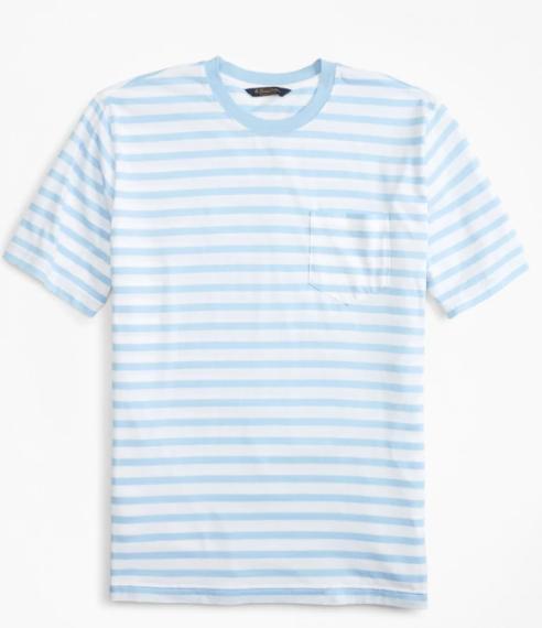 Erkek açık mavi supima bisiklet yaka t-shirt