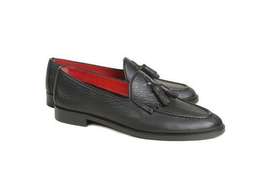El yapımı klasik ayakkabı & siyah bağcıksız
