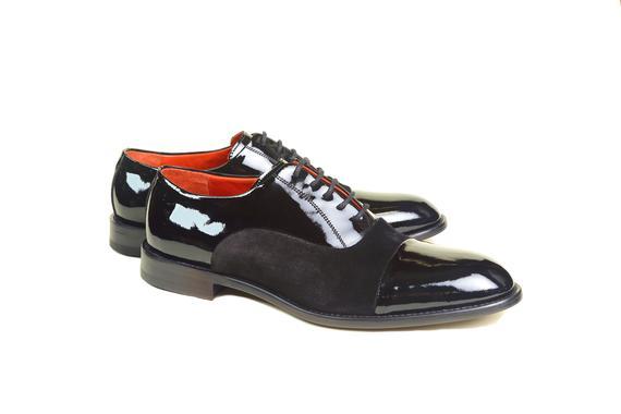 El yapımı klasik ayakkabı & siyah rugan bağcıklı