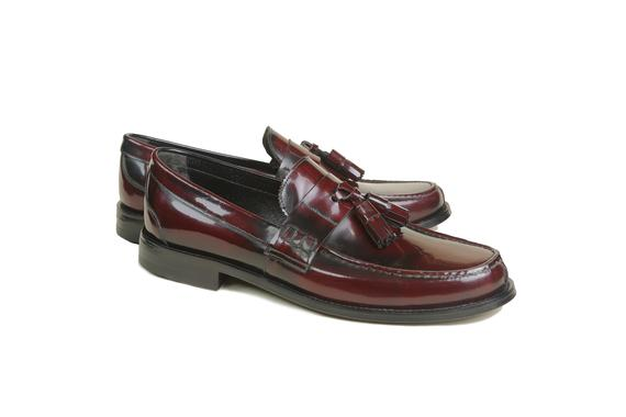 El yapımı klasik ayakkabı & bordo bağcıksız