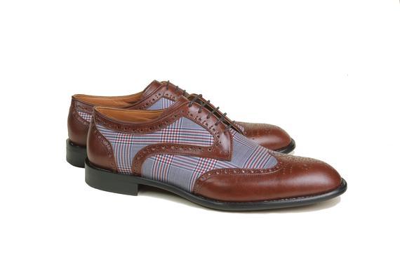 El yapımı klasik ayakkabı & kahverengi bağcıklı