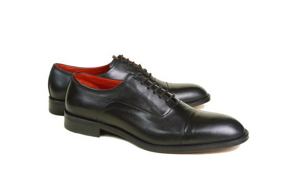 El yapımı klasik ayakkabı & siyah bağcıklı