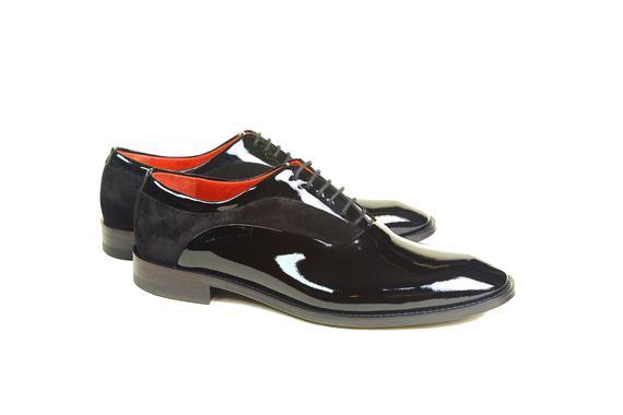 El yapımı klasik ayakkabı & rugan siyah bağcıklı