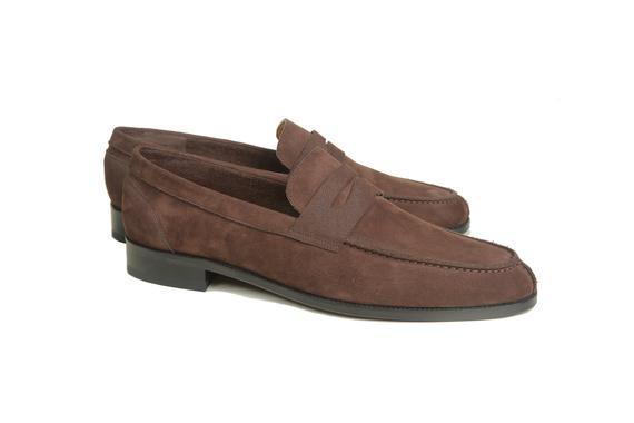 El yapımı klasik ayakkabı & kahverengi bağcıksız