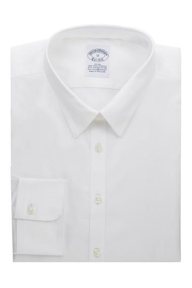 Kadın beyaz non-iron supima gömlek