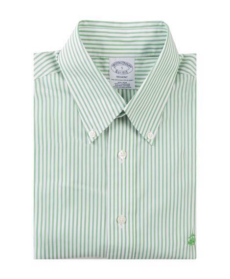 Erkek yeşil non-iron regent kesim spor gömlek