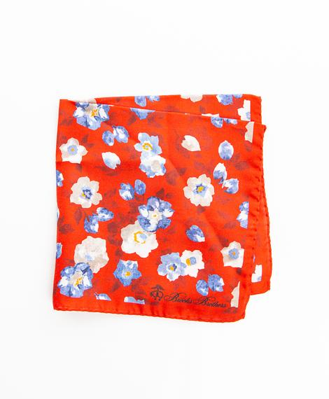 PKT SQR LUX FLORAL RED FLORAL PS